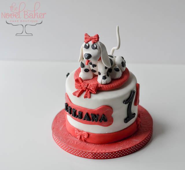 Dalmatian Cake Topper Girl (103)