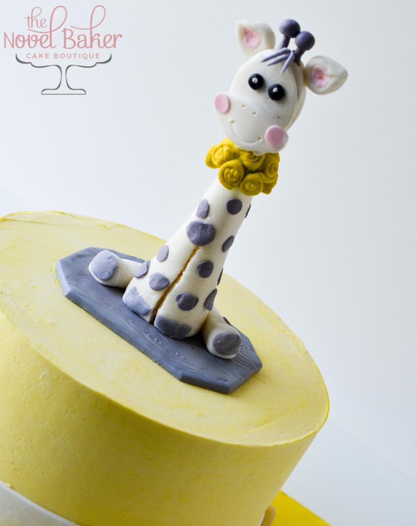 Baby Giraffe Shower Cake