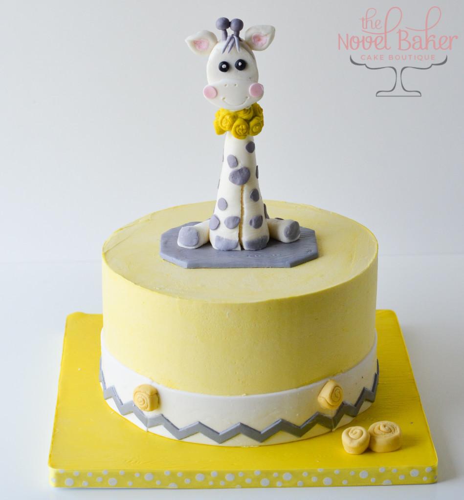 Baby Giraffe Cake for Shower, Birthday or Christening