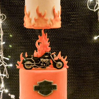 3 tier Harley Davidson 50th Cake