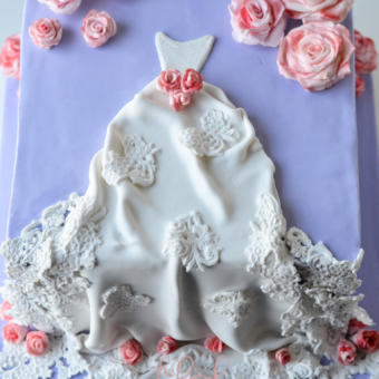 Wedding Dress Cake-Bridal Shower-