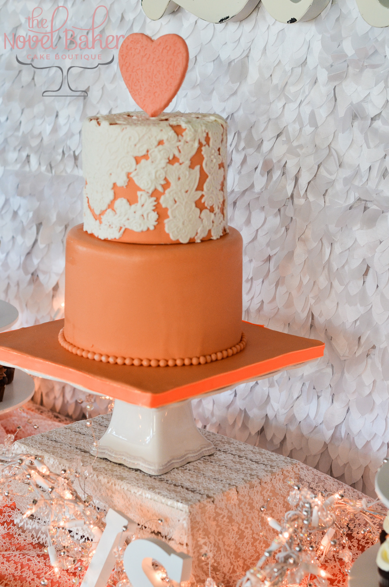 Sunrise & Lace SweetTable Bridesmaid Cake