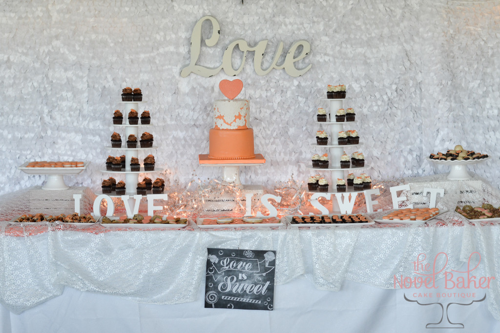 Sunrise Sweet Table inspired by Bridesmaids' Dress