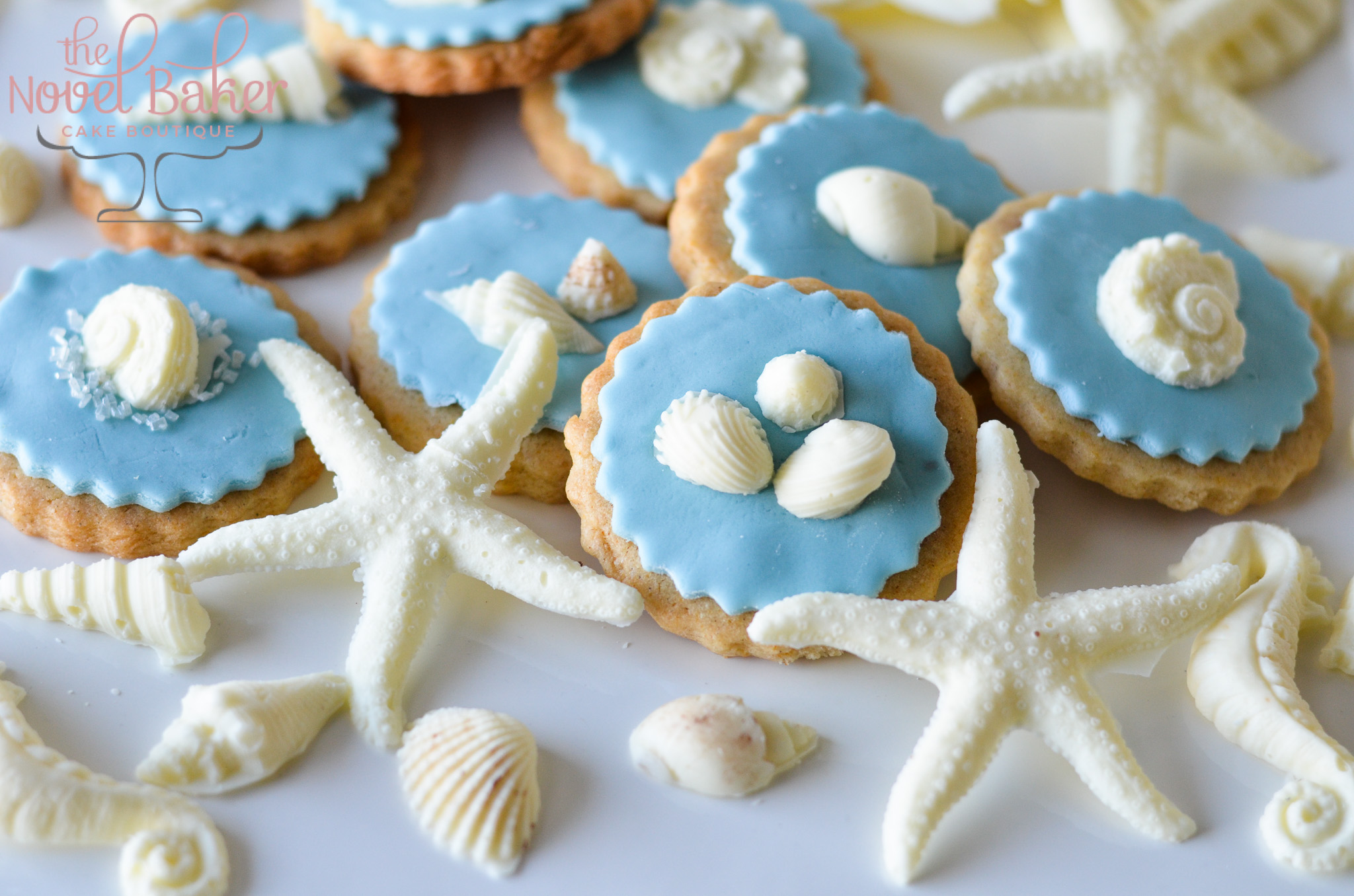 White chocolate Seashell Cookies