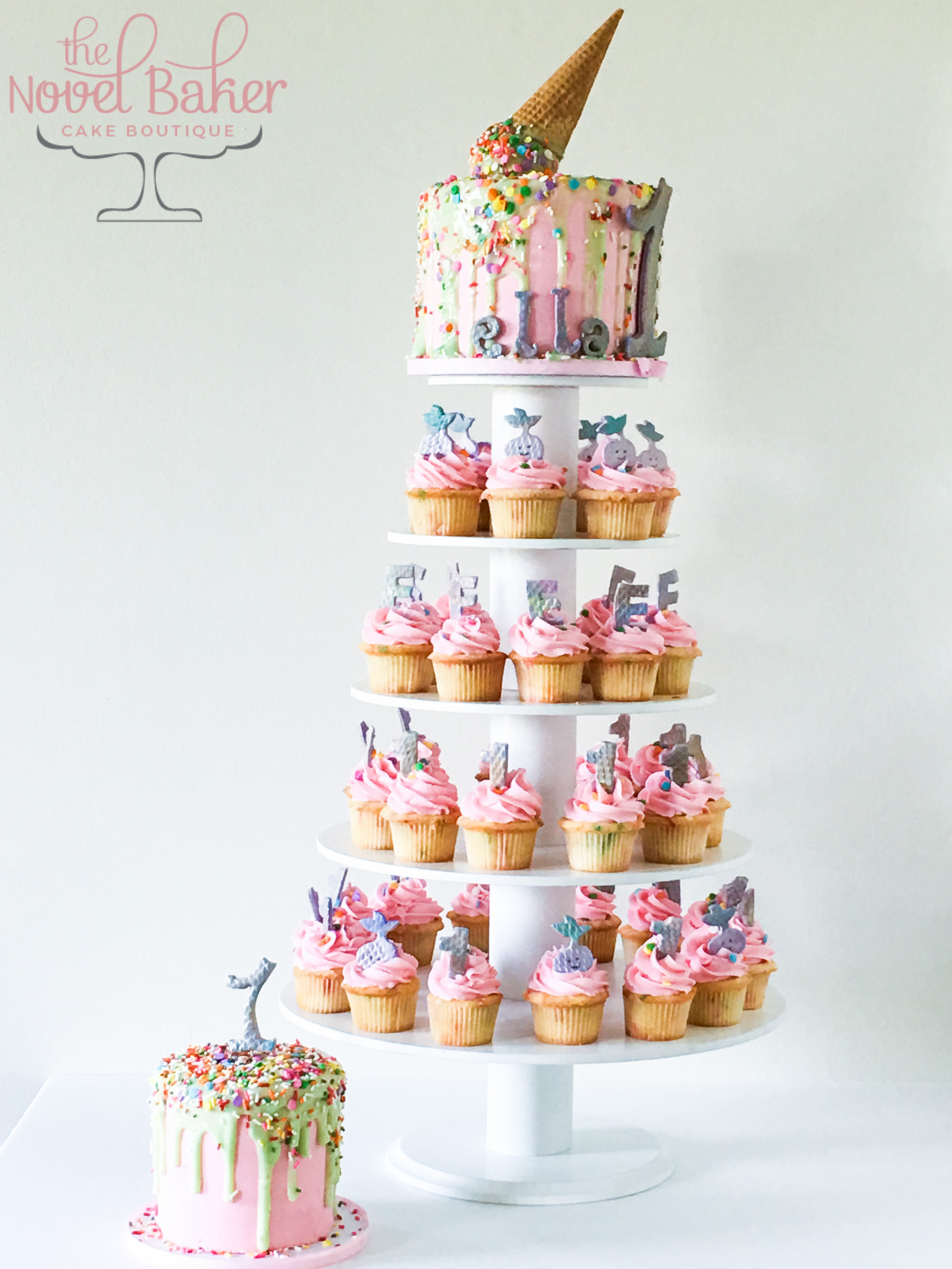 Ice Cream Cone Drip Cake Thenovelbaker